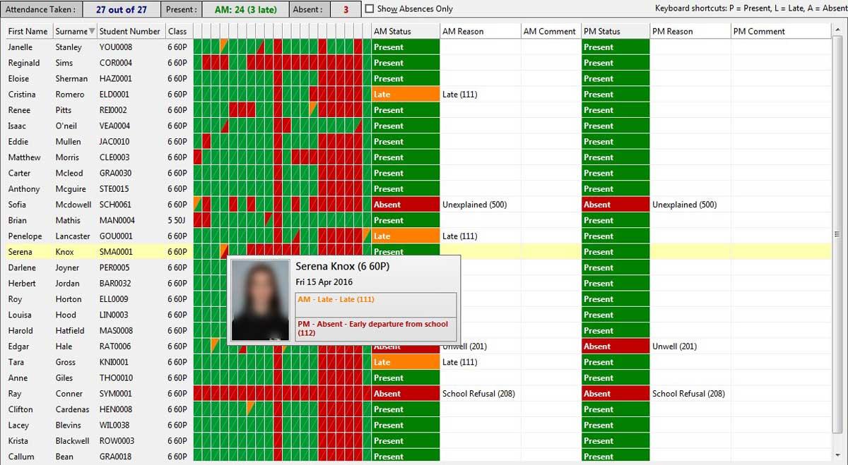 GradeXpert Attendance Screenshot1